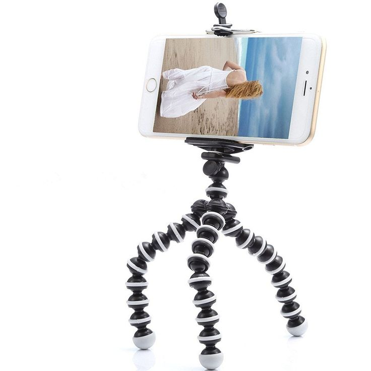 Small Light Universal Tripod Mount Phone Holder for Smart Phones - BLACK