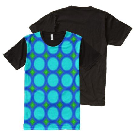 Blue multicolored  circle pattern All-Over-Print T-Shirt - click/tap to personalize and buy