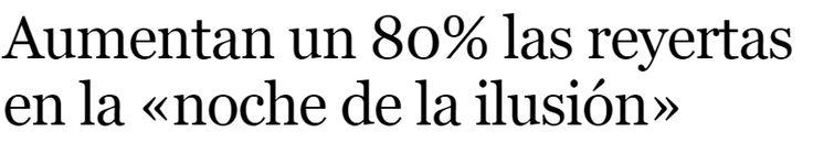 Como ya ocurriera con fin de año, la noche de Reyes ha sido este 2016 más movida que hace doce meses. Hasta 29 agresiones y reyertas, nueve accidentes de tráfico, once incendios y ocho intoxicaciones etílicas registró ayer el Centro de Emergencias 112 de la Comunidad de Madrid. - La Razón 7/1/2016
