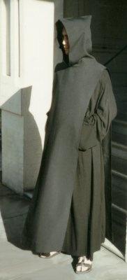 Benedictine monk in tunic & scapular.