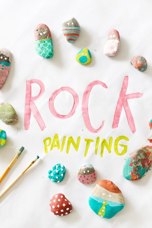 DIY Craft Rock Art Painting for Kids