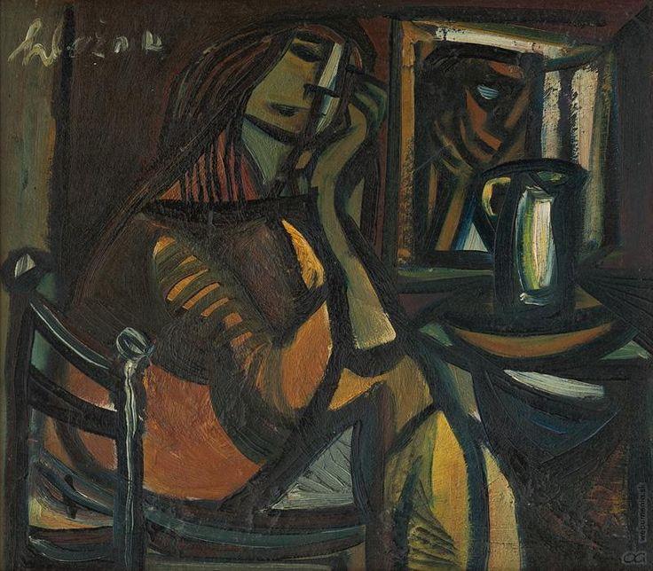 Vincent Hložník: Sediaca žena:1947