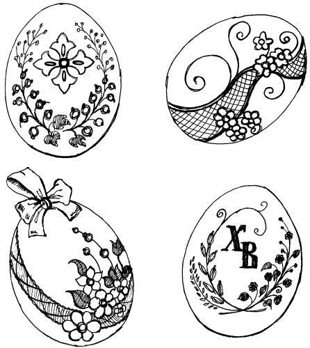 пасхальные трафареты идеи для росписи пасхальных яиц
