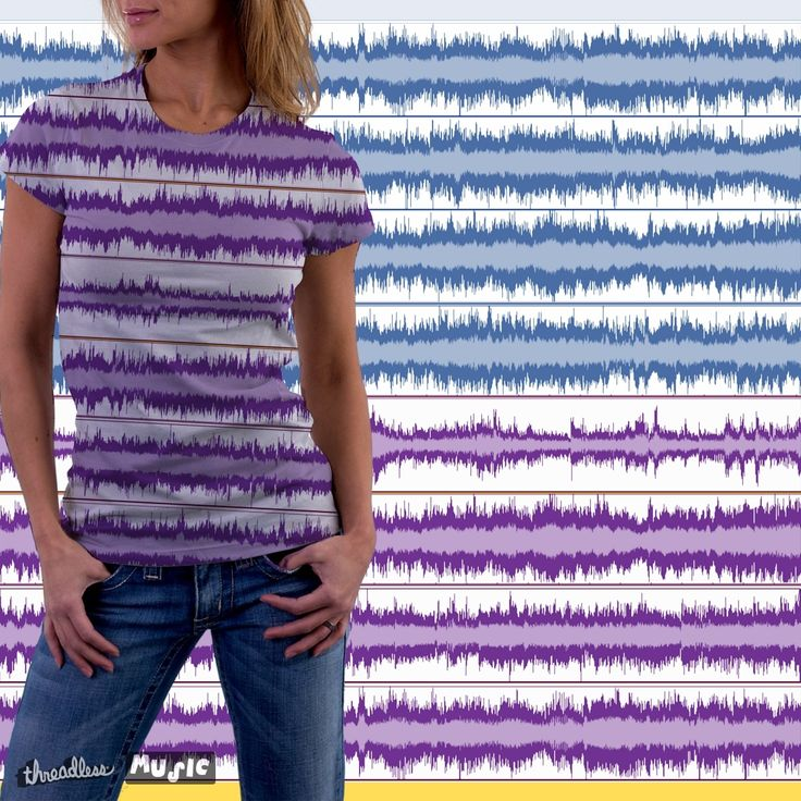 """Check out my new design submission """"Soundwaves!"""" on @threadless https://www.threadless.com/designs/soundwaves-8"""