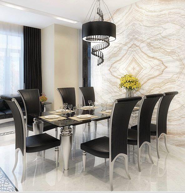 Super Classy   Black And White Always A Winner. Elegant Dining RoomModern  ...