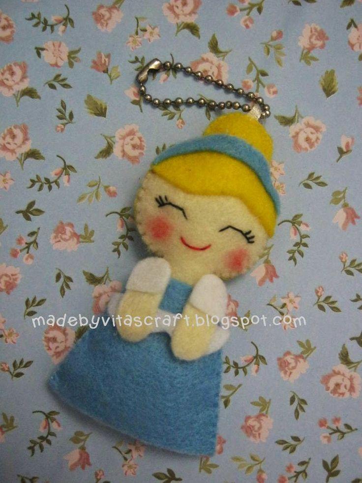 Cinderella Disney Princess Felt Doll Keychain