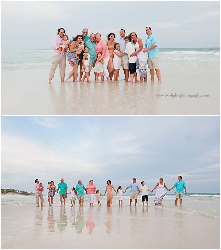 Love these family photos on the beach. I also really like all the colors the family chose to wear.