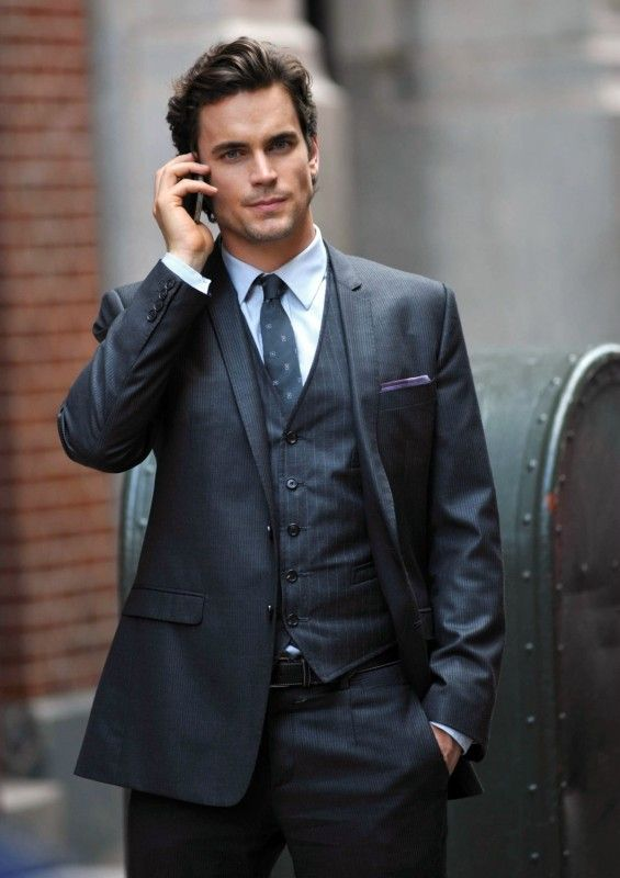 This man always looks amazing. Love the idea of a wedding party in 3-piece suits.