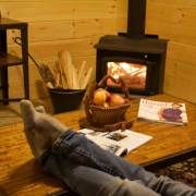 Relax next to a roaring fire