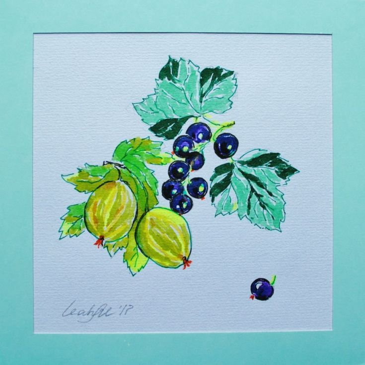 Buy Gooseberry and Blackcurrant. Mini gift art with colour mount., Drawing by Leah Maximova on Artfinder. Discover thousands of other original paintings, prints, sculptures and photography from independent artists.