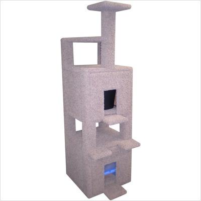 Posh Kitty Condos Two Story Triangle Cat Condo and Litter Box Enclosure - PKC3-003