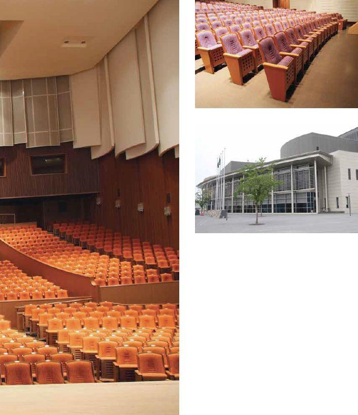 Sanda Konzerthalle, Kansai Japan. Konzerthallen sind beliebte Aufenthaltsorte in Japan. Um einen widerstandsfähigen Boden zu haben, der den Klang innerhalb des Raumes begünstigt, war Kork die richtige Wahl für die Konzerthalle in Kansai. Quelle: Amorim #Kork