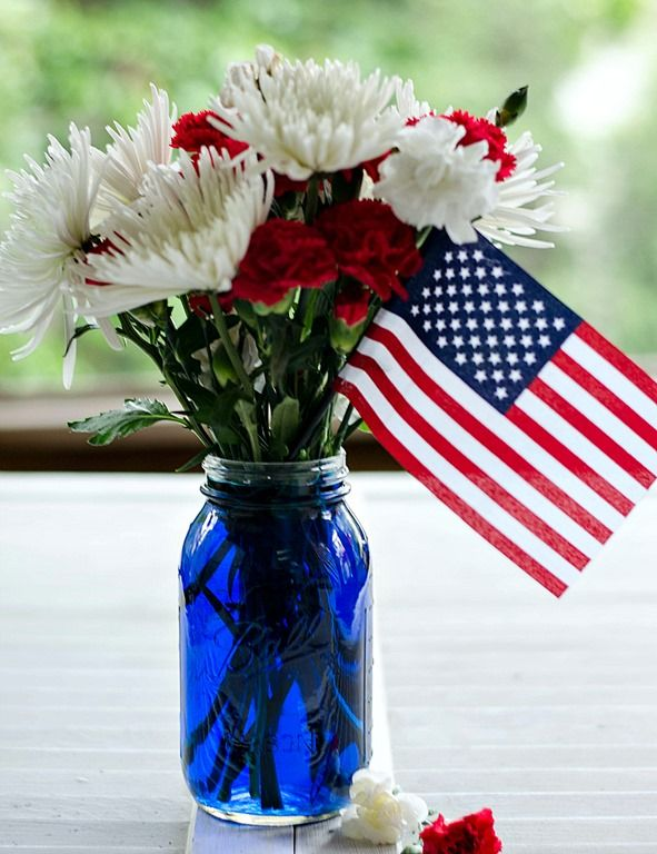 military centerpiece | Red, white, and blue centerpiece - It All Started With Paint