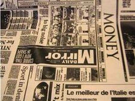 Katoen krant wit/zwart