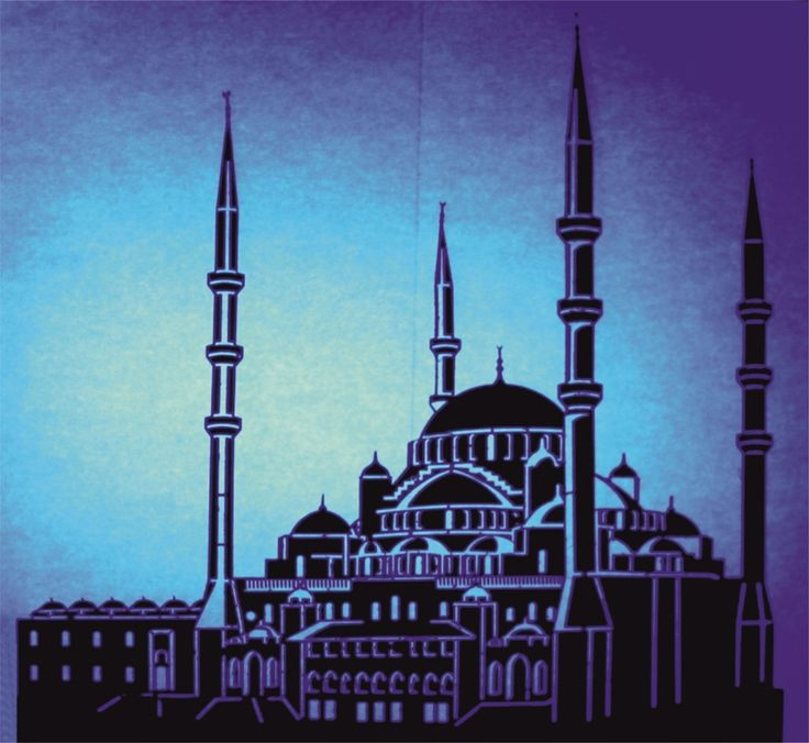 laser cutting,city silhouette, Ankara Kocatepe mosque, led light