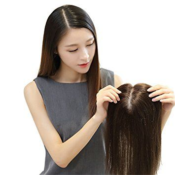 Remeehi Silk Base Human Hair Toppers for Thinning Hair Clip in Hairpiece for Women (6inch chestnut brown) Review
