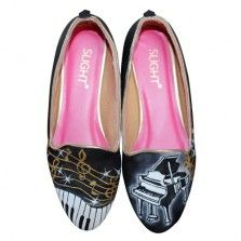 Sepatu Lukis Loafer Piano