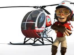 Resultado de imagem para monkey helicopter