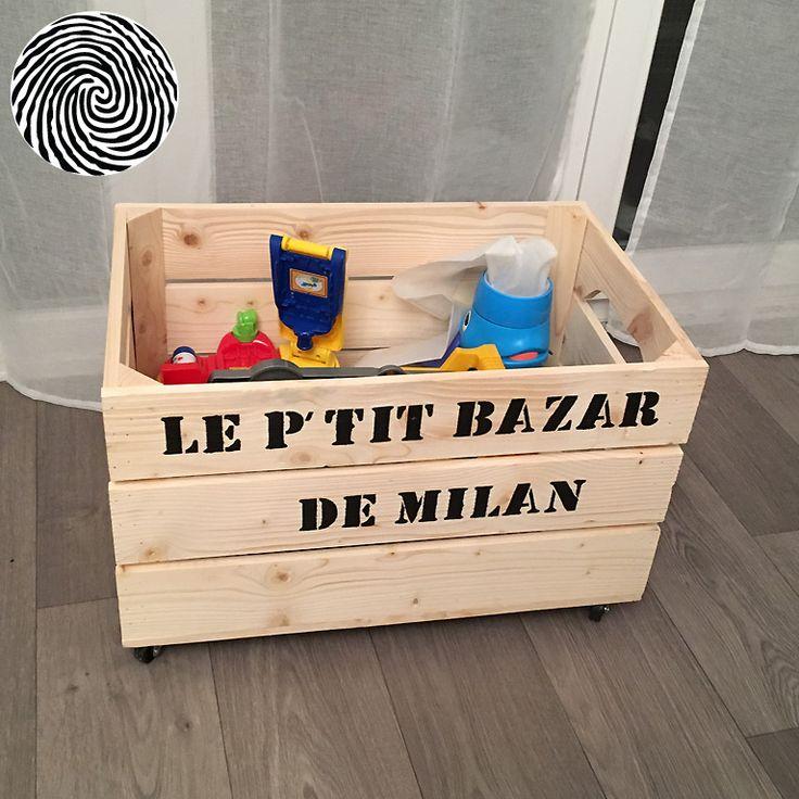 Chariot Standard | Caisse a jouet, Rangement jouet enfant et Boîtes à vin en bois