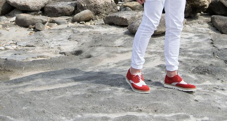 Men Oxford Shoes Red White  Men Shoes / Spring Summer 2016 / Men Collection Luigi Footwear