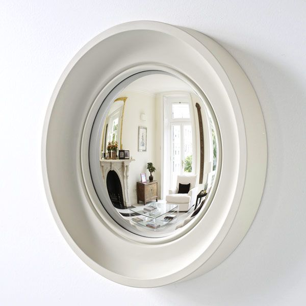 Convex mirrors make the space look bigger