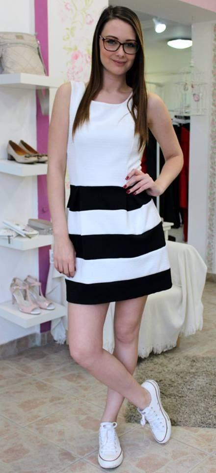 White & Black dress