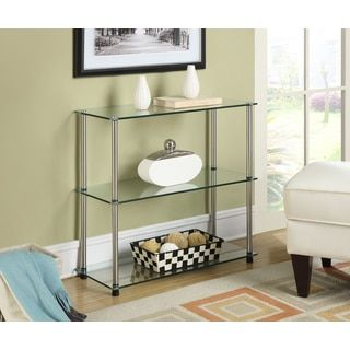 Shop for Convenience Concepts Designs2Go Black, Clear Glass, Stainless Steel 3-shelf Bookcase. Get free shipping at Overstock.com - Your Online Furniture Outlet Store! Get 5% in rewards with Club O!