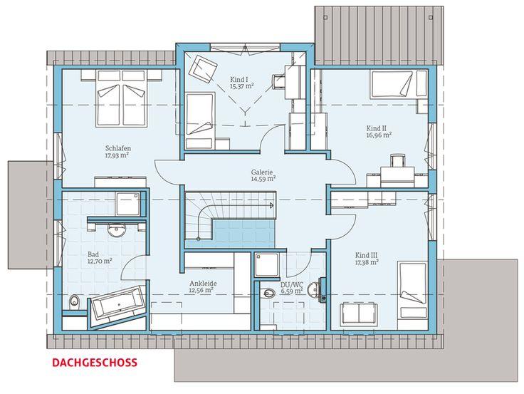 Musterhaus grundrisse haus  130 besten Häuser und grundrisse Bilder auf Pinterest | Haus ...