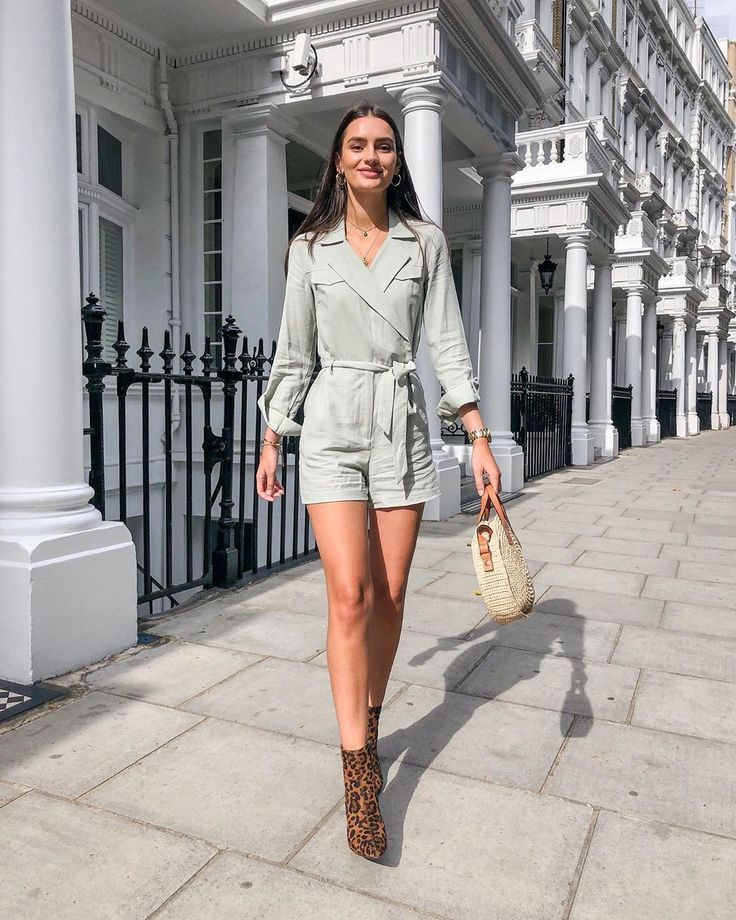 Image result for Printed Romper and Ankle Boots