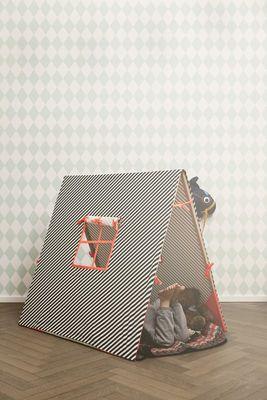 Tente Kids / Pour enfants Noir, blanc, rose fluo - Ferm Living // Marthe