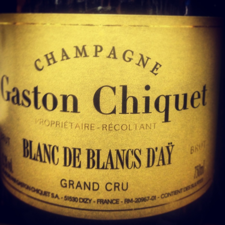 Gaston Chiquet #champagne #blancdeblancs perfect for this warm #napavalley night.