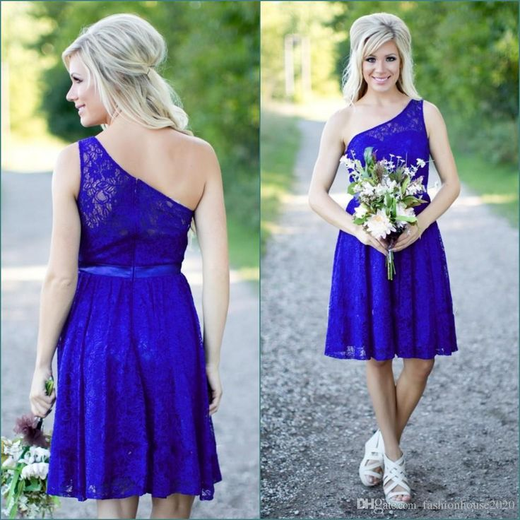 Royal Blue Lace Short Bridesmaid Dresses 2017 One Shoulder Sexy Cheap Country Bridesmaids Dress Under 50 Wedding Party Gowns Bridesmaid Dresses Short Bridesmaid Dresses Royal Blue Bridesmaid Dresses Online with $69.72/Piece on Fashionhouse2020's Store | DHgate.com