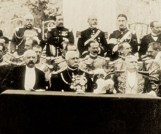 Porfirio Díaz durante las fiestas del centenario de la Independencia