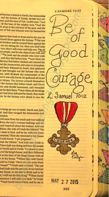 Easy Bible Art Journaling Journey: 2 Samuel 10:12 (May 27th)