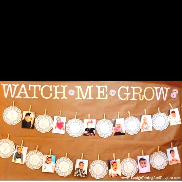 Watch me grow made a cute sign like this