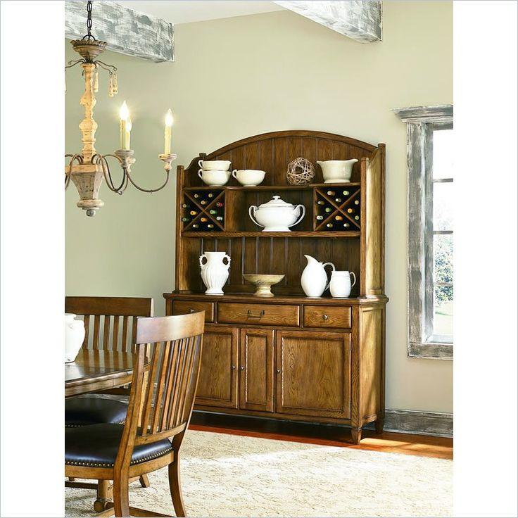 American Drew Americana Home Buffet In Warm Khaki Oak