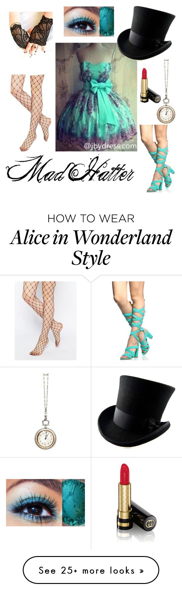 """Alice in Wonderland: Mad Hatter"" by hopelessromance69 on Polyvore featuring ASOS, Cartier and Gucci"