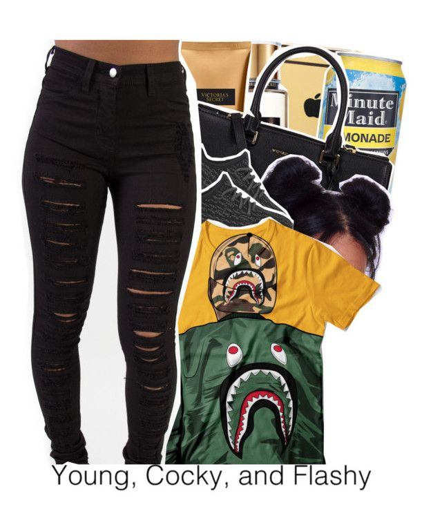 """""""Untitled #880"""" by issaxmonea ❤ liked on Polyvore featuring Goldgenie, Victoria's Secret, Michael Kors and A BATHING APE"""
