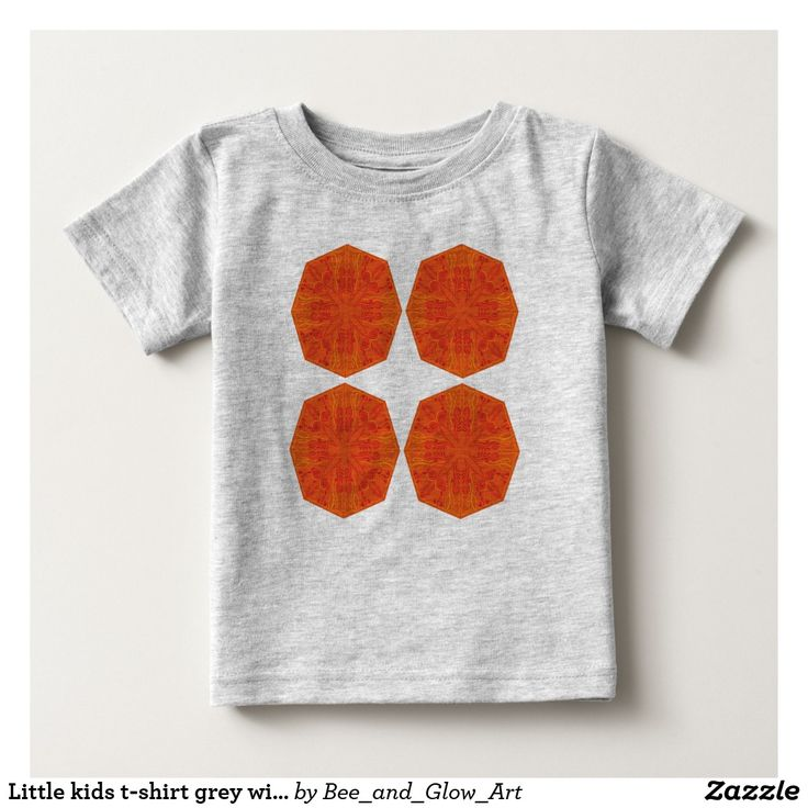 Little kids t-shirt grey with Mandalas