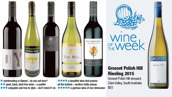 Wine of the week is Grosset Polish Hill Riesling 2015.
