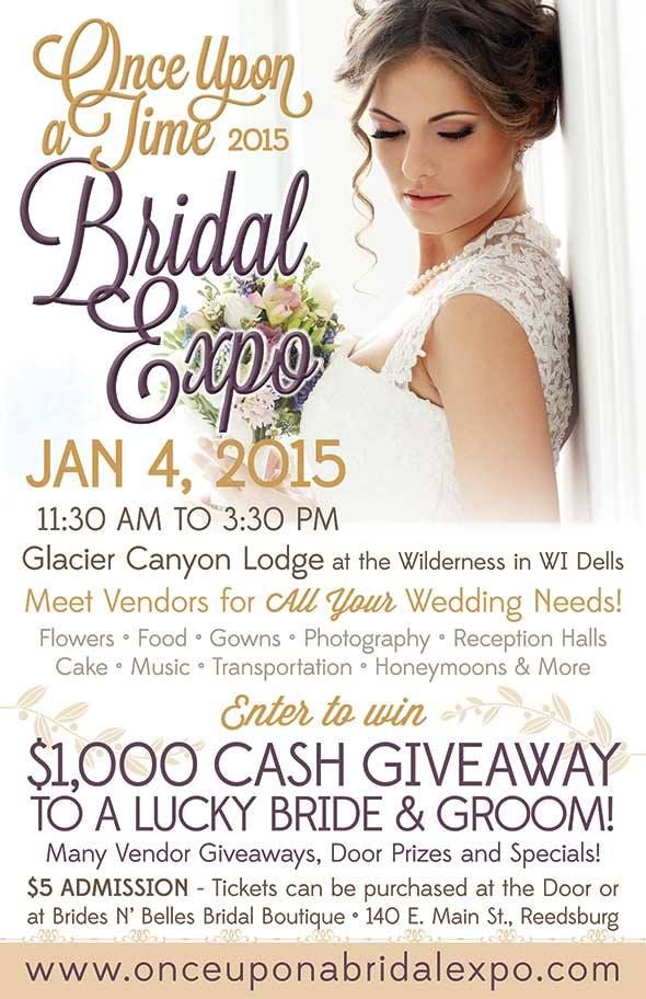 Once Upon a Time Bridal Expo - Glacier Canyon Lodge at the Wilderness Resort (WI Dells) - 1/4/15