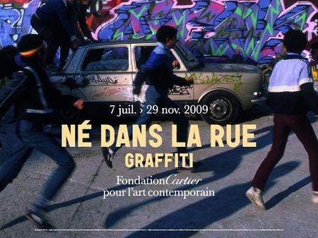 Né dans la Rue, Graffiti, Fondation Cartier, 2009.