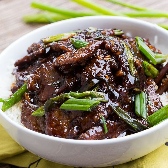 Mongolian Beef (PF Changs copycat). So easy to make and tastes even better than the real thing.
