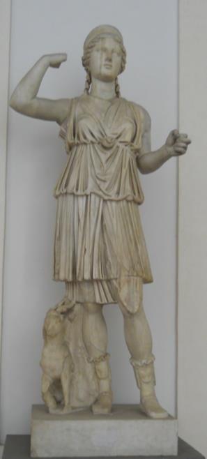Artemide, sorella di Apollo, nata da Zeus e Latona (la Notte) , è personificazione della Luna, pura, casta, vergine, regina dei boschi e dei monti che percorre di notte affiancata dalle Ninfe abbandonandosi ai piaceri della caccia e bagnandosi nelle acque limpide delle fonti. Adorata nei luoghi solitari, sulle cime dei monti, sulle rive dei fiumi, nei boschi,le sue feste erano celebrate in primavera. Invocata dai greci per ottenere la pioggia, il gelo era considerato espressione della sua…