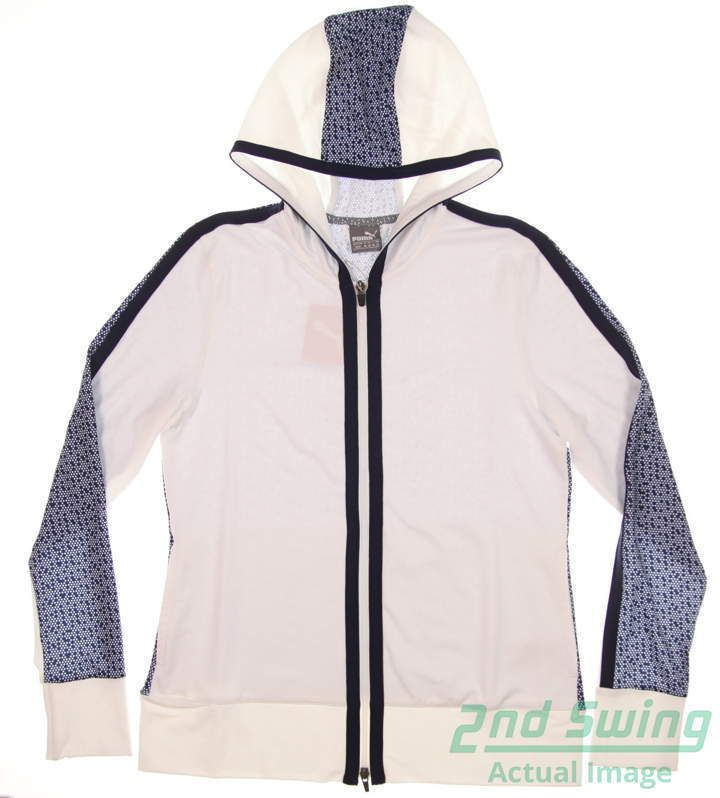 New Womens Puma Golf Hoodie Small S Bright White  Peacoat MSRP  75 574646  02 (eBay Link) 890339ffba