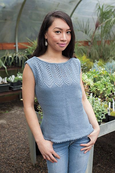 Chevron Lace Tank - Knitting Patterns and Crochet Patterns from KnitPicks.com by Edited by Knit Picks Staff On Sale