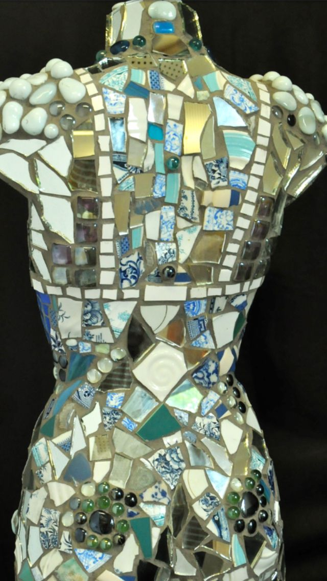 Mosaic mannequin. Commissions undertaken.  See saatchis on-line art gallery