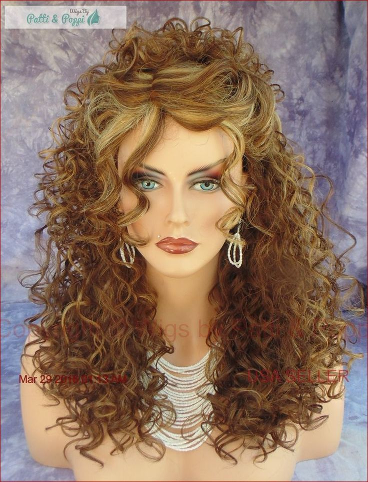 Deep C Lace Part Long Curly Wig Color FS8.27.613 Brown Mix Stunning Style 329 #SEPIA