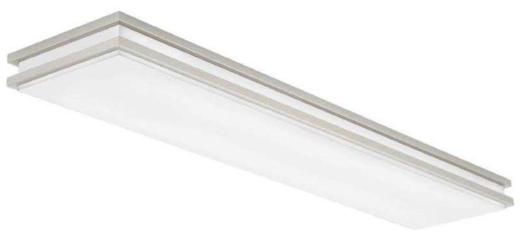 "View the Lithonia Lighting FMFL 30840 SATL BN 10"" Flush Mount 3000K LED Ceiling Fixture at LightingDirect.com."