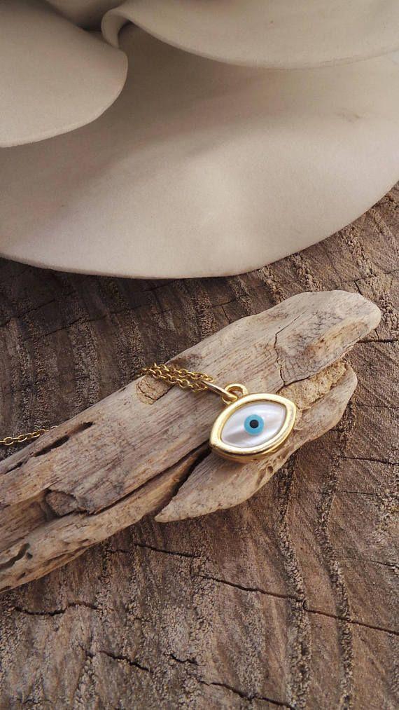Dainty evil eye necklace. Evil eye charm necklace. Tiny evil eye necklace. Gold evil eye necklace. Greek evil eye necklace.